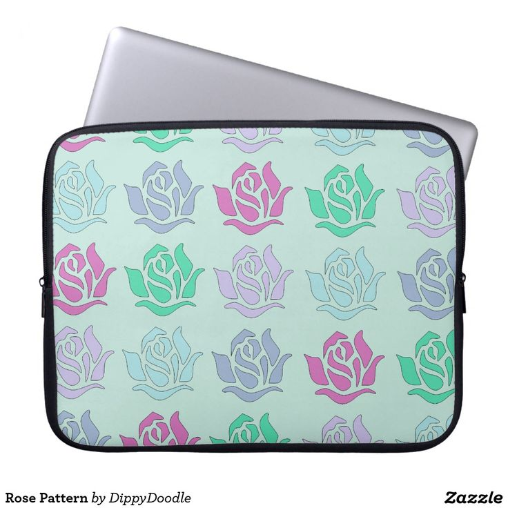 Rose Pattern Laptop Sleeve