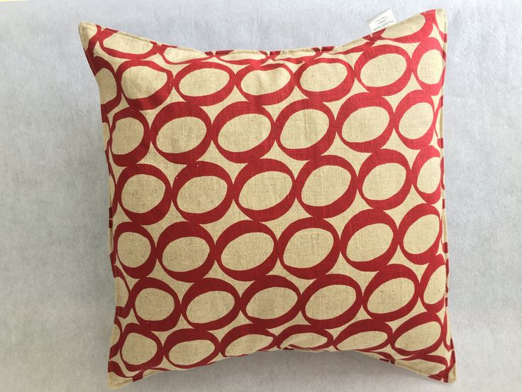 Red Lucky Bean Cushion Cover by MaradadhiTextiles on Etsy