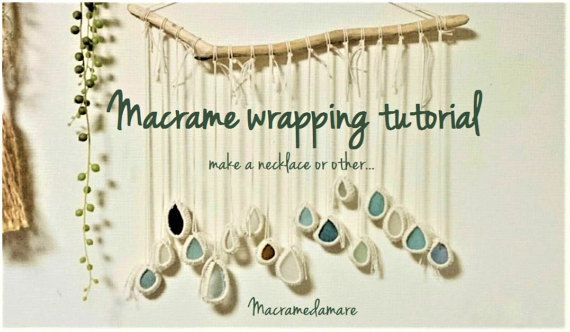 Macrame wrapping tutorial /Macrame pattern / How to macram / Macrame craft / Tutorial macrame stone wrapping / macrame supplies /macrame DIY