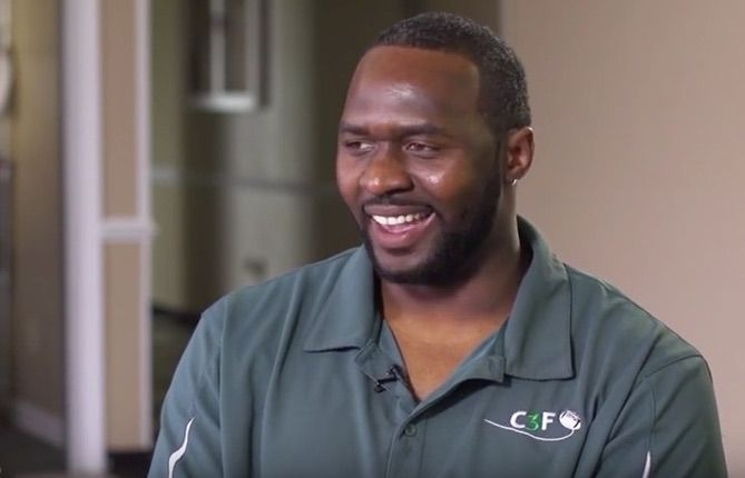 Greg Scott attended Hampton University and was a seventh round draft pick by the Redskins in 2002. He played defensive end in Washington for one season before migrating to the Bengals for three years. He went back to coach Hampton, and eventually defensive lineman Chris Baker, after his football career ended. He now runs the Cover 3 Foundation in Franklin, Va.