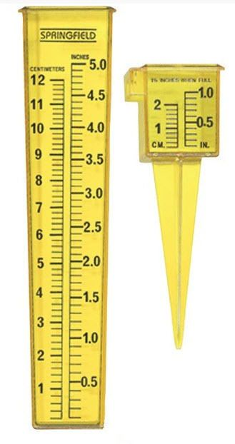 Springfield 2 in 1 Sprinkler Rain Gauge in High Visibility Yellow For Your Yard #Springfield