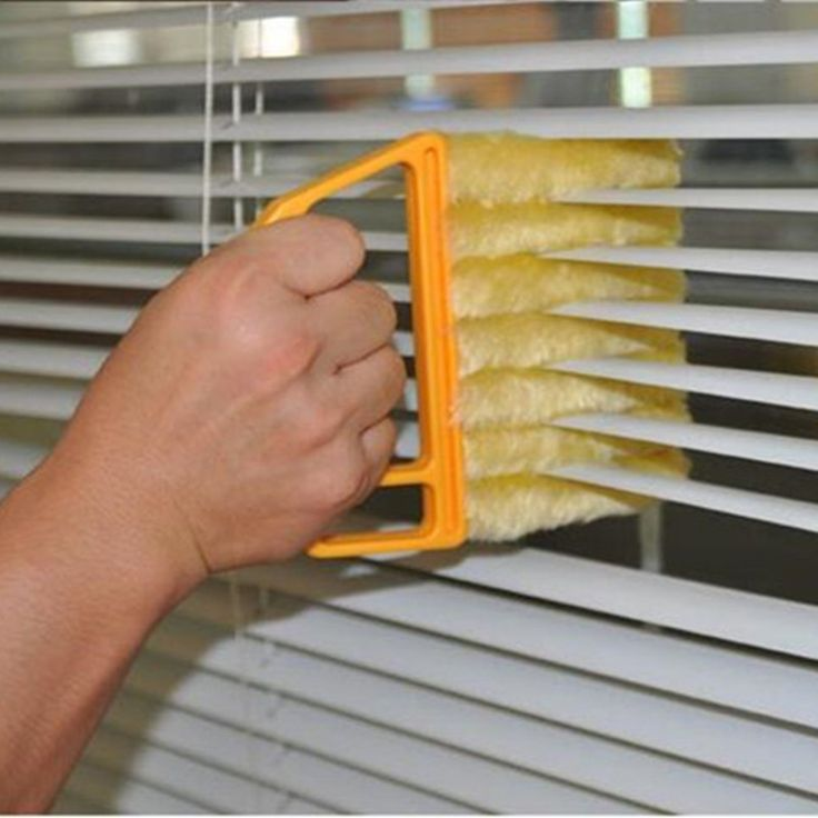 Washable Microfiber Hand Window Mini-blind Cleaning Brush Conditioner Duster Household Tool