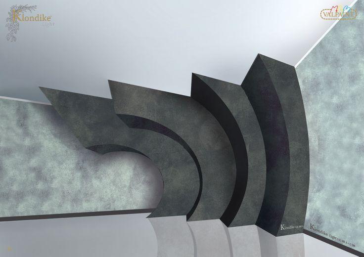 Valpaint Klondike Light - Water-based paint for interiors modern and refined, the metal fragments enhance the velvet effect.