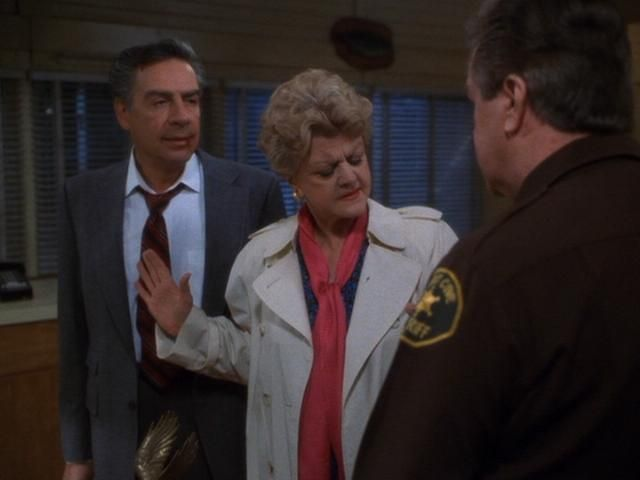 Jerry Orbach as Harry McGraw P.I., Angel Lansbury as Jessica, and Ron Musak as Sheriff Metzger.