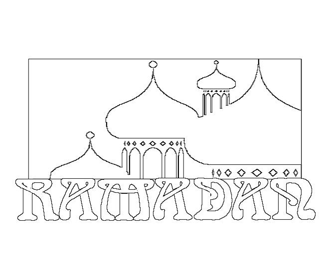 Ramadan Coloring Pages Use As Templates For Various Projects