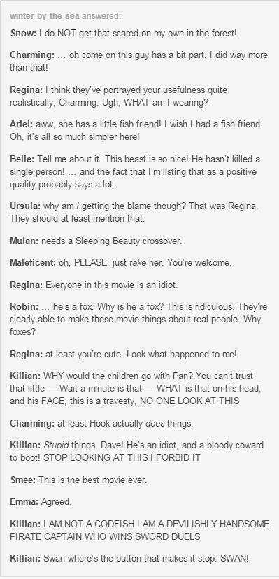 If OUAT Characters watched their Disney Movies...