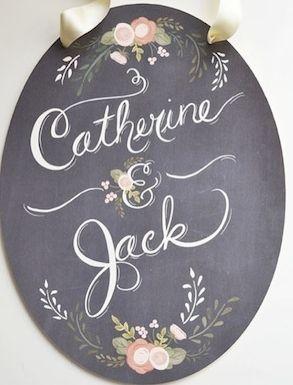 chalkboard wedding #signage