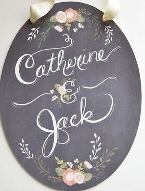 chalkboard wedding #signage