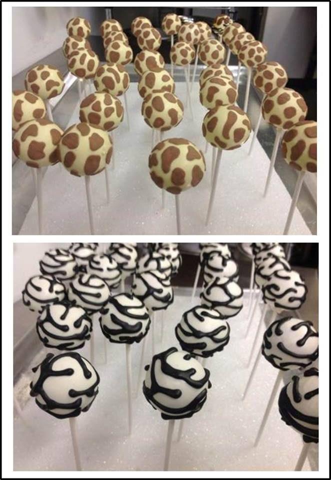 Safari Theme Cake Pops