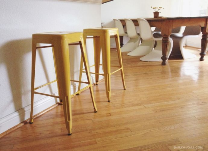 Yellow Carlisle metal bar stools from Tar Best About Bar Stools Pinterest