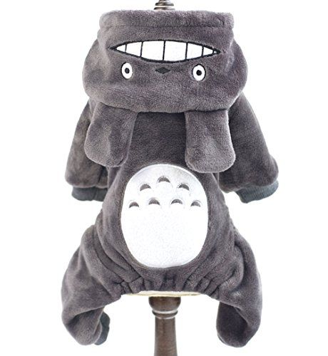 SMALLLEE_LUCKY_STORE Pet Small Dog/Cat Fleece Totoro Jumpsuit Pajamas Coat Halloween Costume, XX-Large, Grey >>> Read more details by clicking on the image.