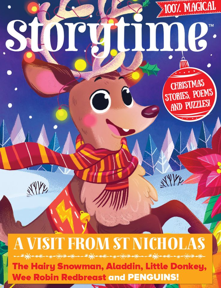 Our gorgeous festive issue Storytime 40 is out now – with Twas the Night Before Christmas, little donkey, robin redbreast, Aladdin, a hairy snowman and more! Subscribe here: http://www.storytimemagazine.com/subscribe
