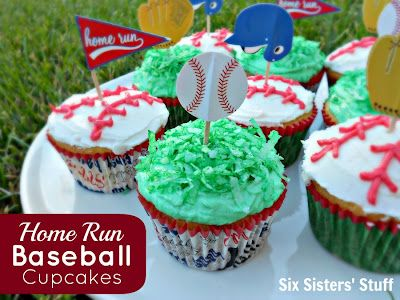 Home Run Baseball Cupcakes for the baseball fan in your life (and how to make cake mix cupcakes taste amazing!). SixSistersStuff.com #dessert #cupcakes #baseball: Cakes Mixed Cupcakes, Cake Mix Cupcakes, Six Sisters, Cake Mixes, Cupcakes Tasting, Mixed Secret, Baseb Cupcakes, Baseball Cupcakes, Cupcakes Baseb