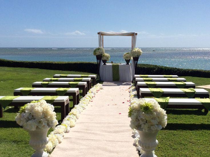 beachfront wedding ceremony setup the kahala hotel resort oahu - Oahu Hotels And Resorts
