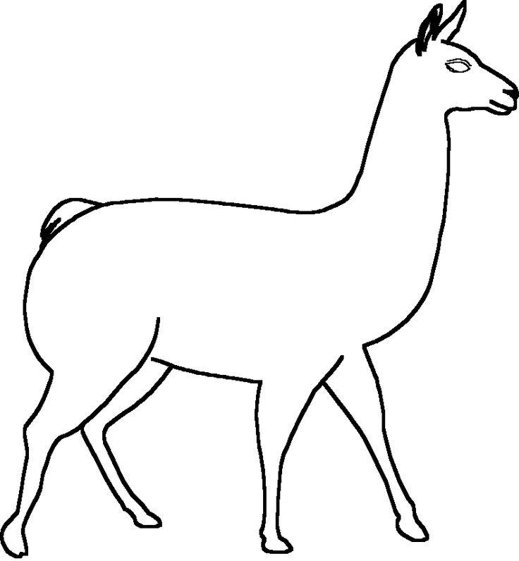 Llama animal - Dibujos para colorear - aColorear - ClipArt Best - ClipArt Best
