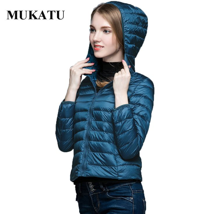 Winter White Duck Down Jacket Women 2016 Hood New Woman Ultra Light Down Coat Winter Slim Outerwear Jacket Zipper Women Parkas