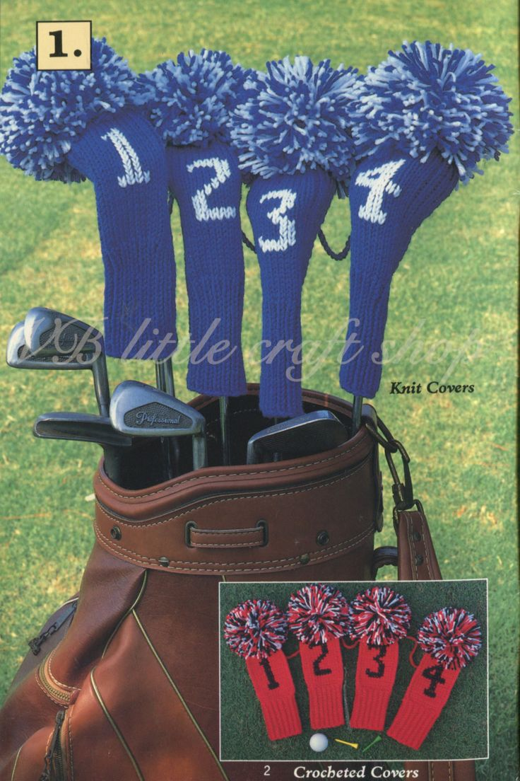 17 best images about golf covers on pinterest 200 yards cozy golf club covers knitting and crochet pattern instant pdf download bankloansurffo Images
