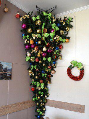 Inspire-se para fazer uma árvore de natal invertida   Catraca Livre