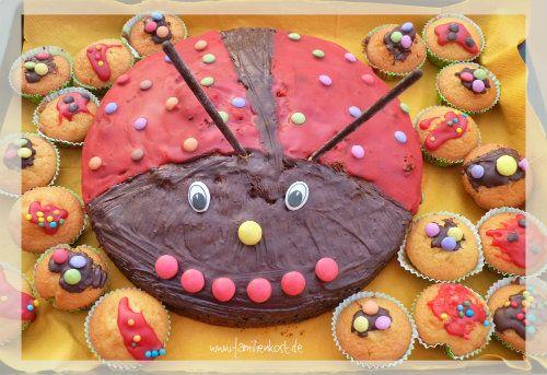 Marienkäferchen - Kuchen für den Kindergeburtstag nicht nur für Mädchen - Rezept und Anleitung