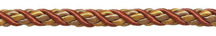 """10 Yard Value Pack of Large RUST GOLD Baroque Collection 7/16"""" Decorative Cord Without Lip Style# 716BNL Color: CINNAMON TOAST - 6122 (30 Ft / 9 Meters)"""