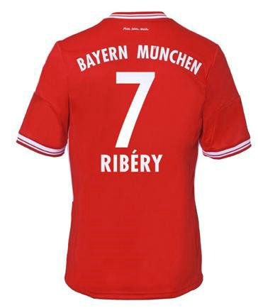 Maillot de Foot Bayern Munich (7 Ribery) Domicile Adidas Collection 2013 2014 rouge Pas Cher http://www.korsel.net/maillot-de-foot-bayern-munich-7-ribery-domicile-adidas-collection-2013-2014-rouge-pas-cher-p-2399.html