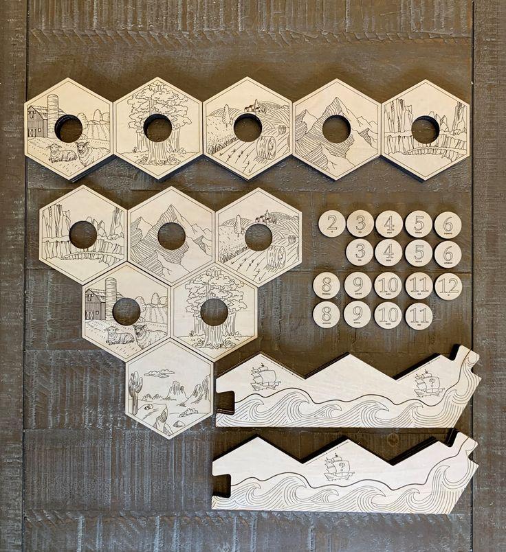 Custom Engraved Settlers of Catan Board in 2020 Catan