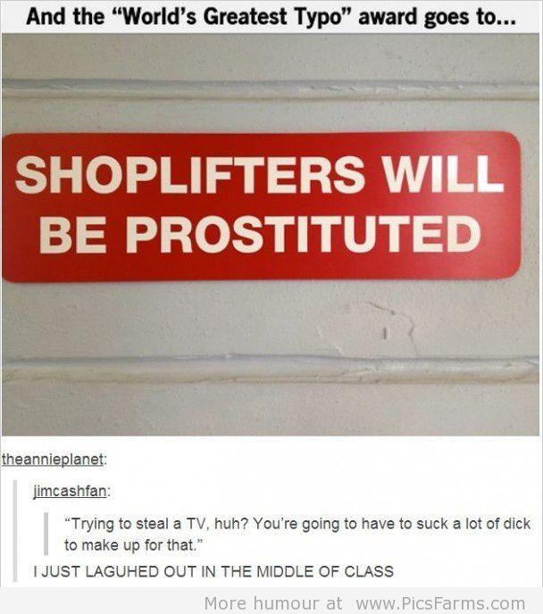 Prostituted...