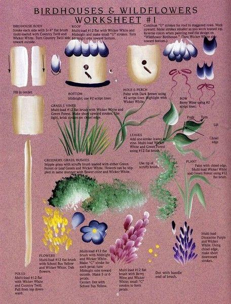 floral work sheets
