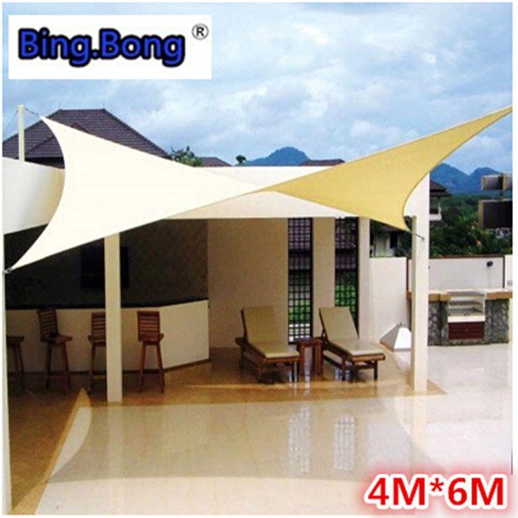 Attractive Outdoor Sun Shade Sail Shade Cloth Canvas Awning Canopy Shading Waterproof  4 6m Fabric Gazebo Toldo