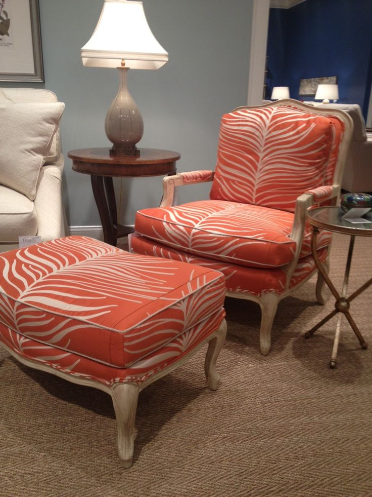 Beautiful Pearson Furniture FAB Orange Animal Print Chair! #hpmkt Idea