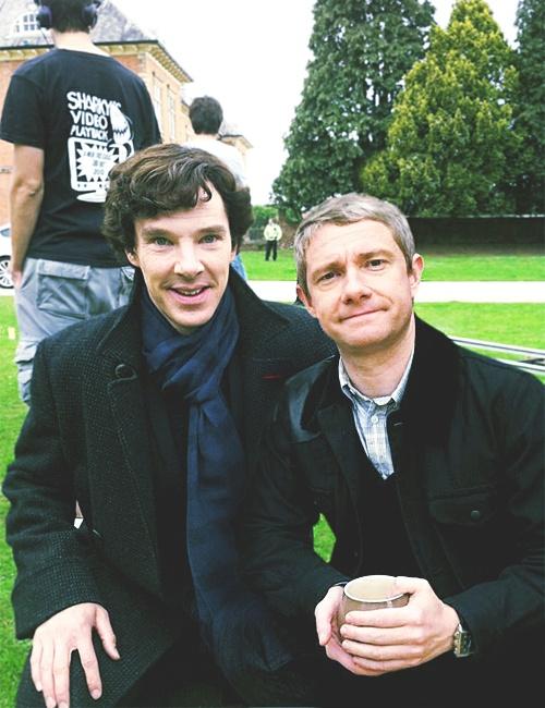 Benedict Cumberbatch and Martin Freeman.
