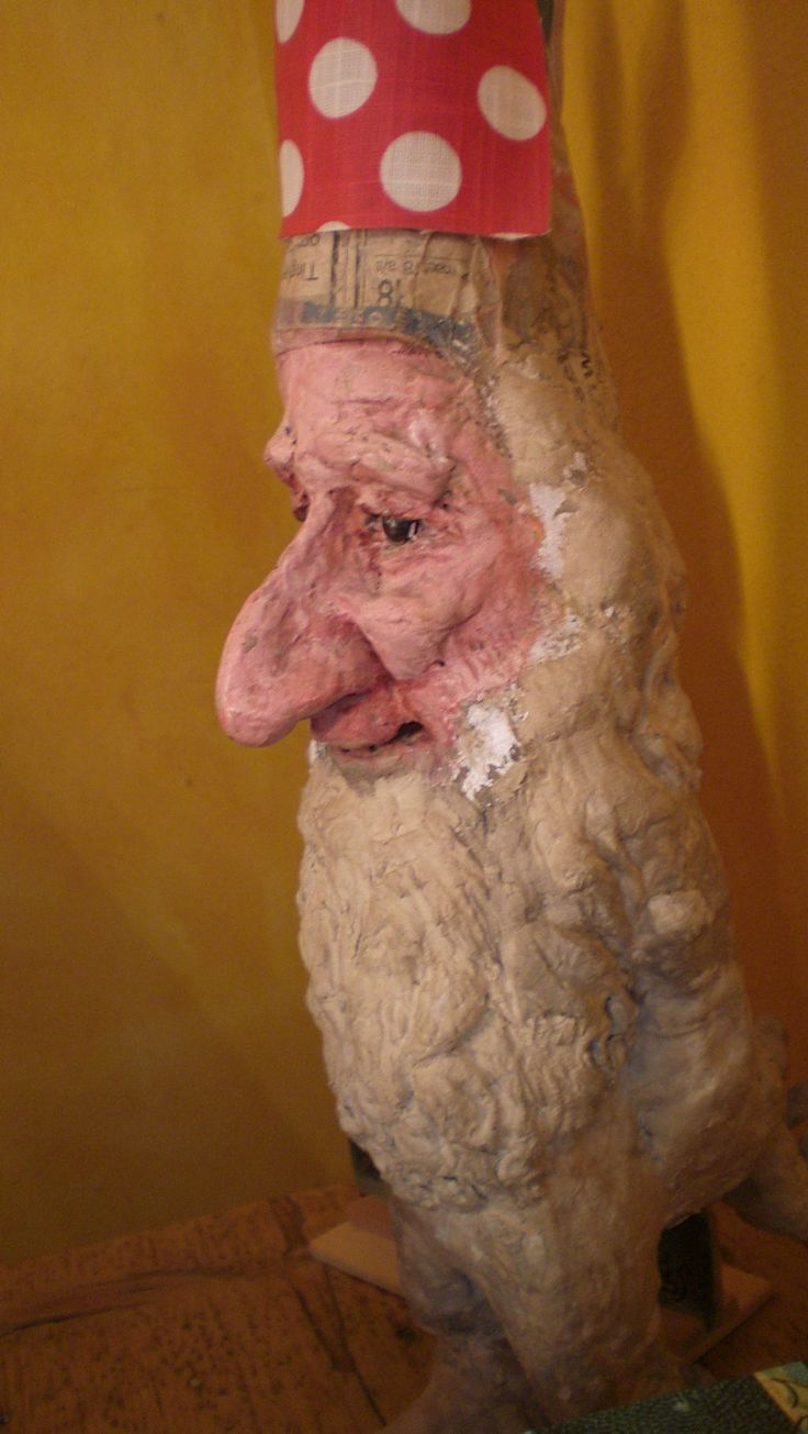 Julenisse. Danish christmas elf- earlier papermache work