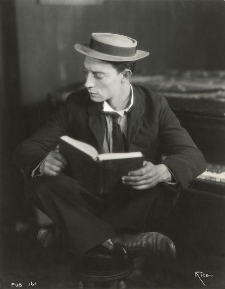 Keaton: Busterkeaton, 1920, Classic Movie, People Reading, Book, Arthur Rice, Keaton Reading, Photo, Buster Keaton