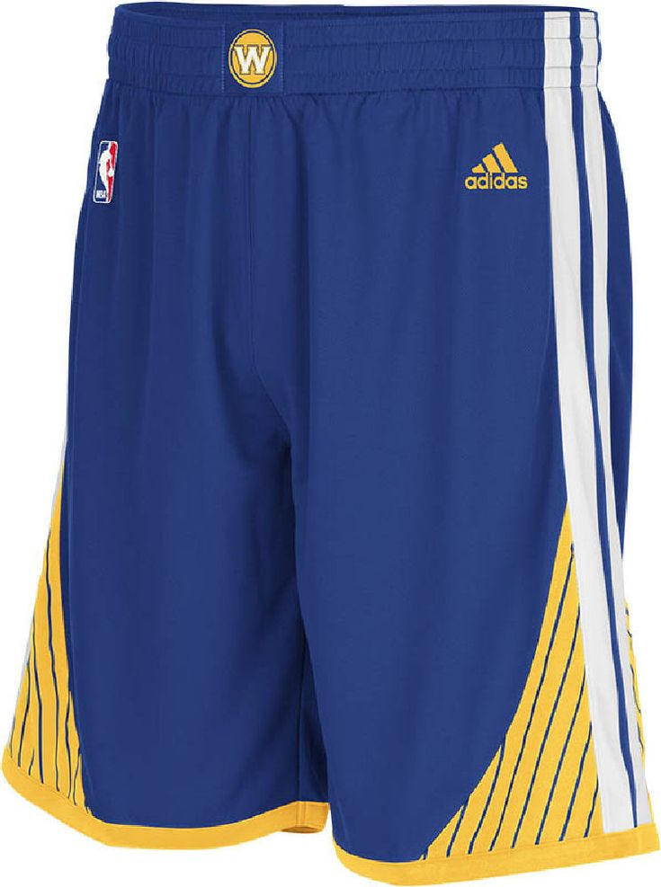 Golden State Warriors Youth Blue Embroidered Swingman Replica Basketball Shorts by Adidas $39.95