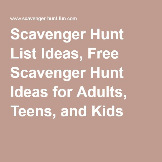 Scavenger Hunt Ideas Adult 32