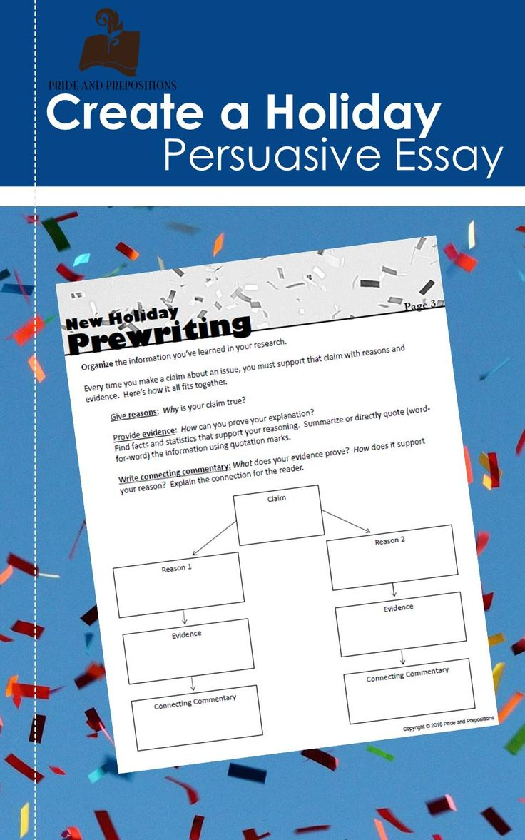 Rules for writing persuasive essay