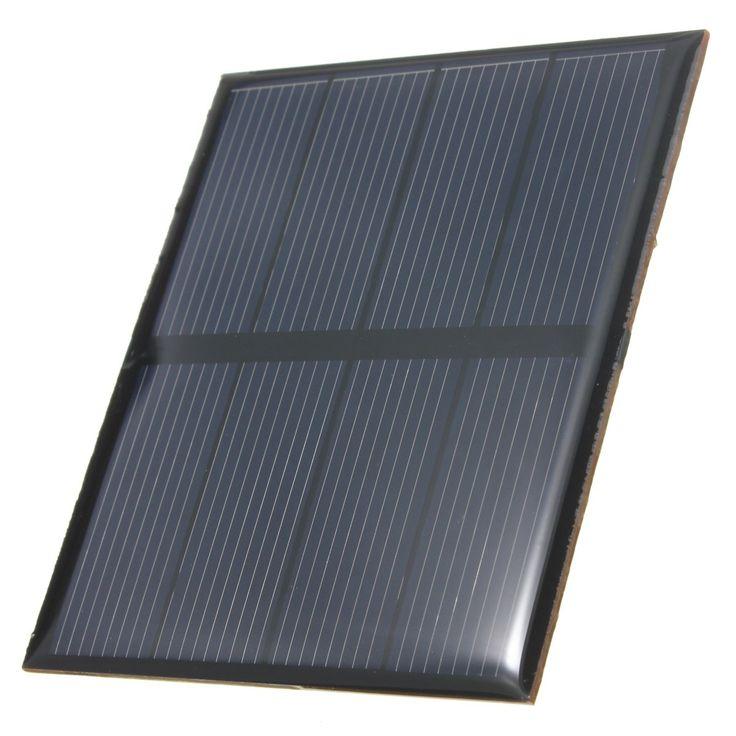 Venta caliente 2 V 0.6 W 300 mAh Epoxi Mini Panel Solar Células Solares de Silicio Policristalino Módulo Solar DIY Almacenados de potencia de Energía