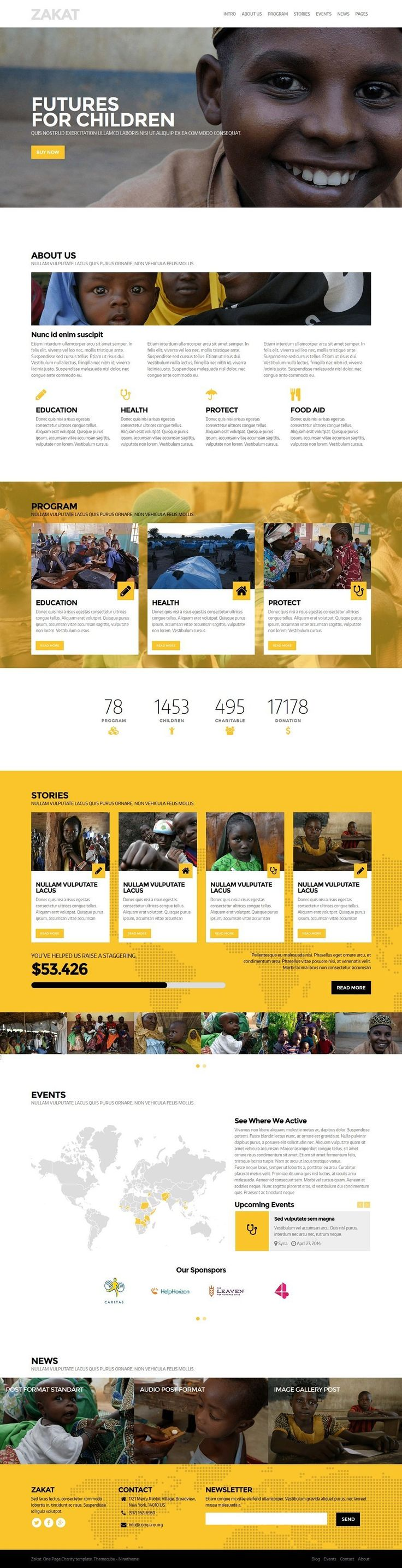 Charity WordPress Themes
