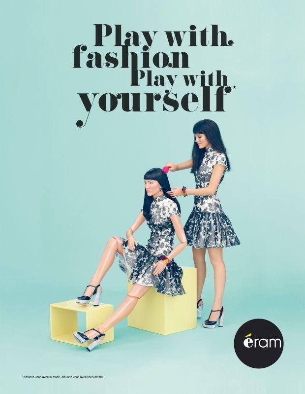 La nouvelle campagne Eram Dolls fait de la mode un jeu #Bleu #Jaune