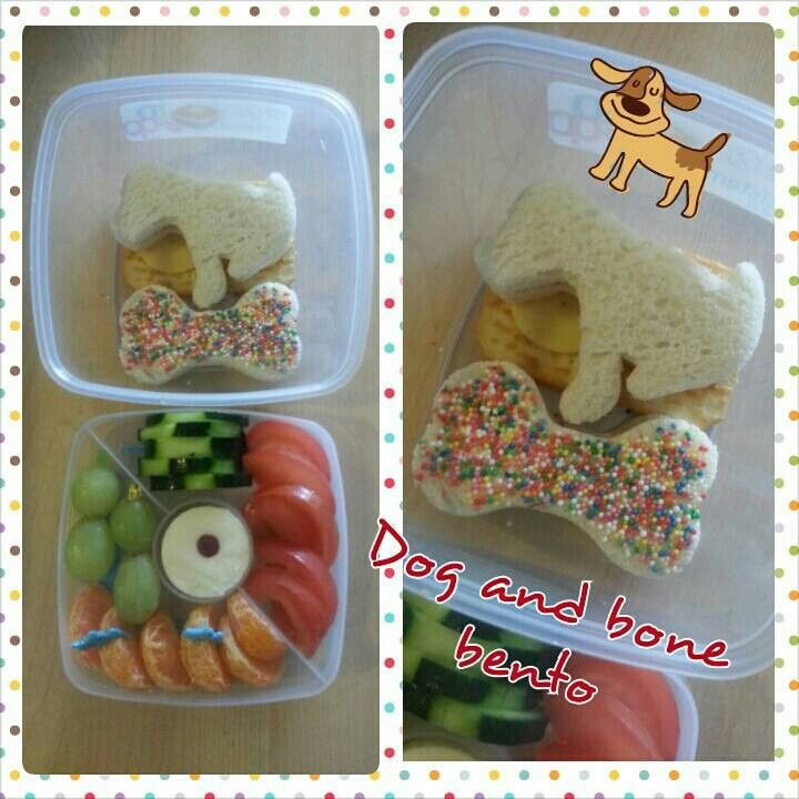 Dog and bone bento https://m.facebook.com/KrazyMummaskitchen