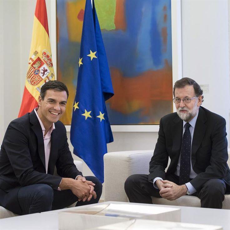 Sánchez pide a Rajoy que abra el diálogo con Podemos y el resto del arco parlamentario