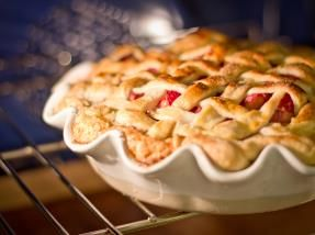 Magnolia Bakery's Strawberry Rhubarb Pie Recipe--I need to do this with our homegrown rhubarb!