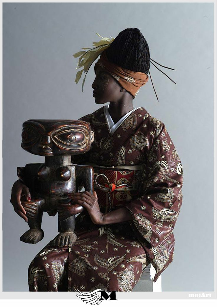 """""""The contrasting landscapes of Japan and Africa may seem, literally, worlds apart. But they have been artfully united in a collaboration between an African designer and a traditional Japanese kimono-maker. Launched last month, Wafrica — Africa plus wa for Japan — has unveiled a range of kimono handcrafted in an array of African cotton fabrics that would seem to be a million miles from the subtle silks more commonly associated with traditional Japanese dress. Project: Serge Mouangue."""""""