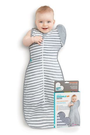 Helps baby transition from swaddle to a sleeping bag. Love to Swaddle Up 50/50 $44.95