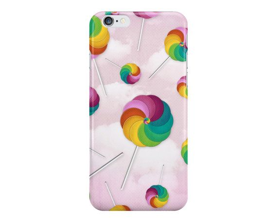 Colorful Lollipop Phone Case, Candy Pattern Phone Case, Pastel Phone Case, Cute Phone Case, iPhone, Samsung Galaxy