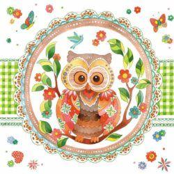 Serwetka papierowa - Signed owl - 00474