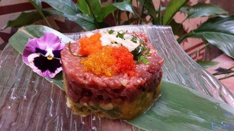 Tartar de atún picante de restaurante Asako a domicilio #Malaga www.foodmesenger.com