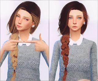 Ellie Simples Retexture Hair ~ Nathys Sims