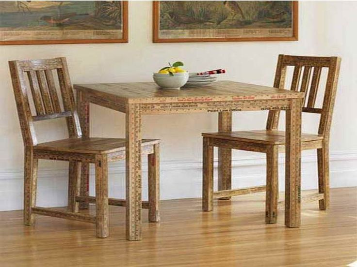 depiction of the small rectangular dining table that is perfect for your tiny dining room - Kitchen Side Tables