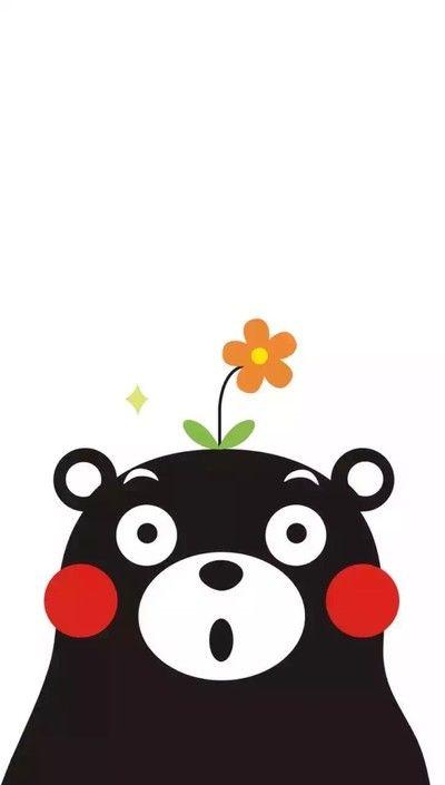 Kumamon Funny Phone Wallpaper Sticker Graffiti Cartoon Wallpaper